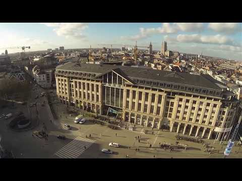 Iconic Buildings in Ghent by Drone