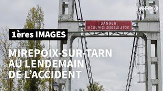 Pont effondré au nord de Toulouse: images au lendemain de l'accident | AFP Images