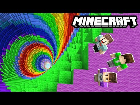 THE PALS vs. RAINBOW DROPPER! (Minecraft)
