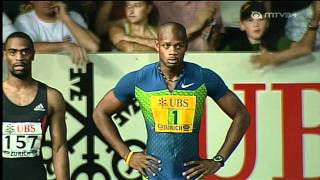 100m - Asafa Powell - 9.77 - Golden League Zürich 2006