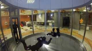 Обучение групповой акробатике RW - развороты на 180°