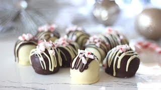 Peppermint Chocolate Truffles Recipe | Christmas Recipes
