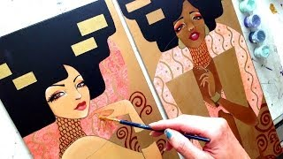 Klimt Girls Speed Paint & Skin Tone Demo by Leilani Joy