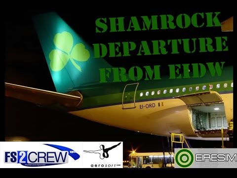FS2CREW - Voice Control - Aer Lingus Night Departure from Dublin