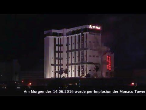 The Riviera Hotel & Casino gesprengt: Implosion um 2:37 Uhr Ortszeit am 14.06.2016