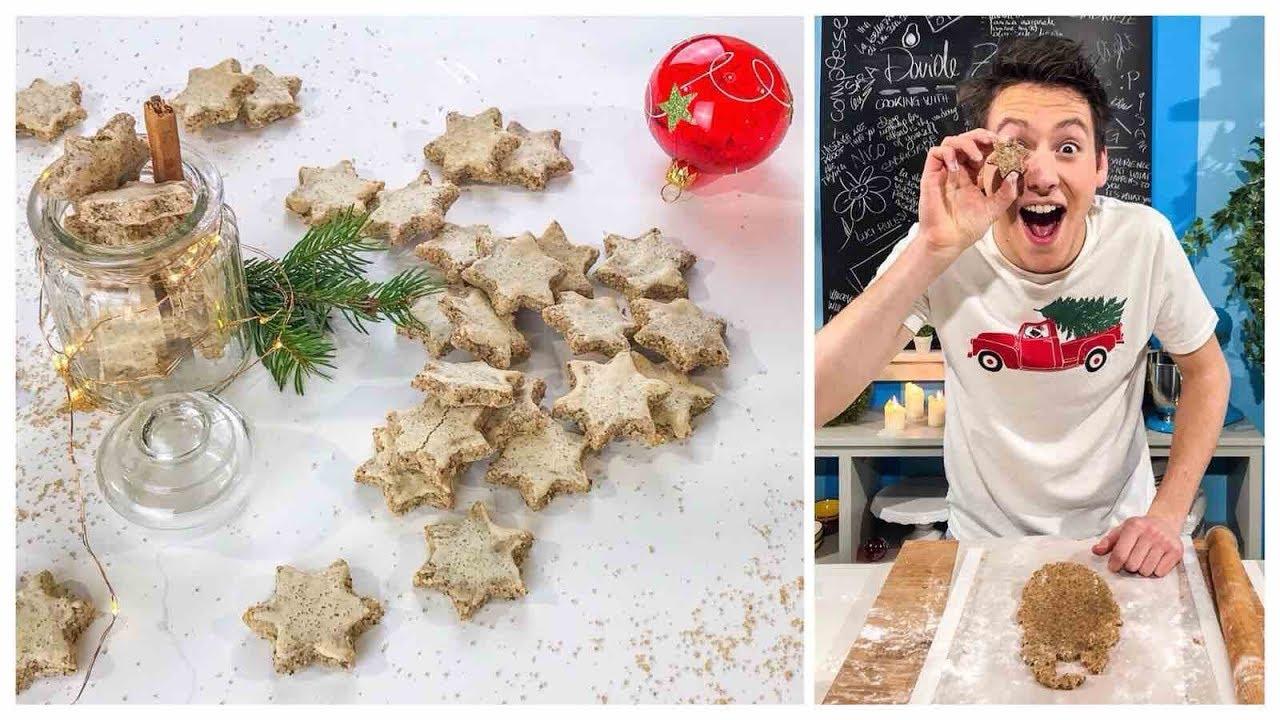 Biscotti Di Natale Zimtsterne.Stelline Alla Cannella Zimtsterne Biscotti Natalizi Senza Glutine E Lattosio Davide Zambelli Youtube