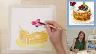 Бесплатный урок по акварели: food акварель. Урок 2