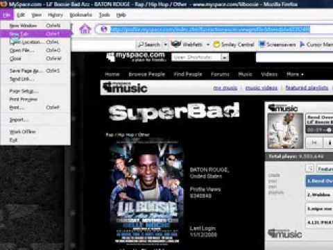 How To Download Music From Myspace!