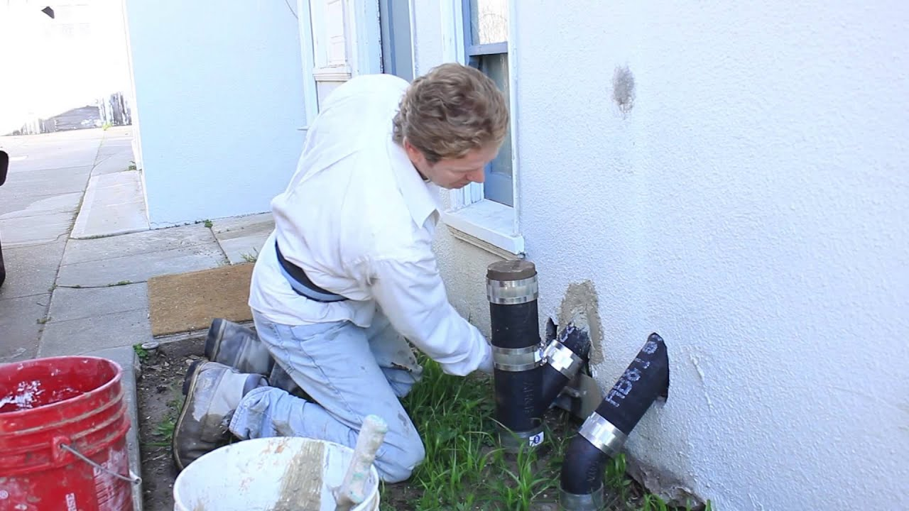 Patching Pipe Holes Through Stucco Walls Youtube