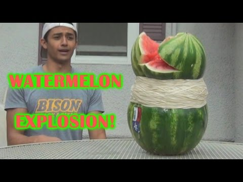 GIANT GMO WATERMELON CHALLENGE EXPLOSION!