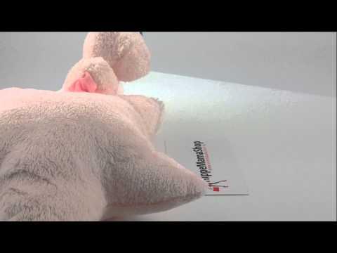 Jellycat Bebe Pink Bear Star Musical Pull