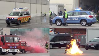 Simulazione Interforze (VVF, SUEM, Polizia di Stato, Polizia Locale) - Italian Emergency Exhibition