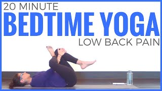 20 minute Beginners Bedtime Yoga for Lower Back Pain | Sarah Beth Yoga