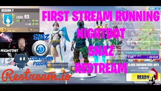 LIVE Testing Restream, Snaz, and Nightbot with Fortnite on Streamlabs OBS