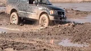 4x4 jeep silverado and expedition stuck