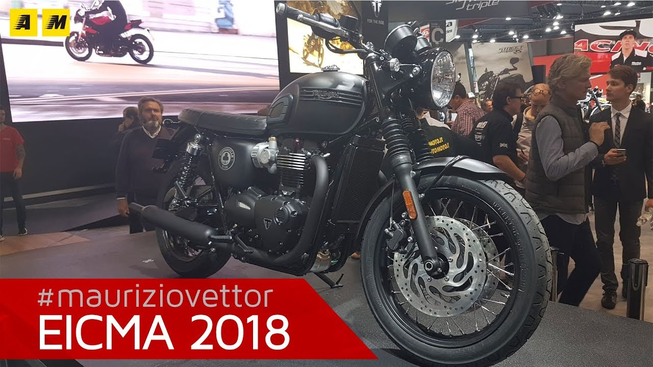 Triumph Bonneville T120 Ace Eicma 2018 English Sub Youtube