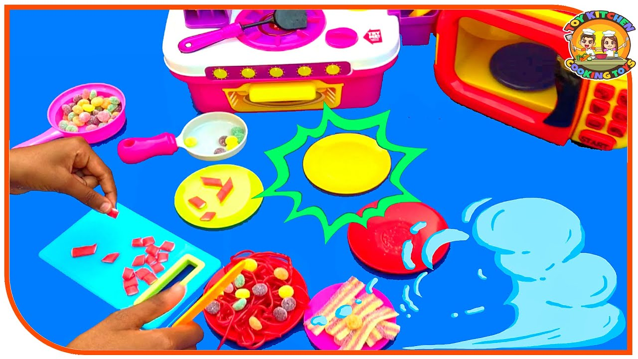 Toy Kitchen Pretend Cooking Colorful Candies Kitchen Playset Food Toys Kitchen Toys Pretend Play Toy