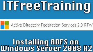 Installing AD FS on Windows Server 2008 R2