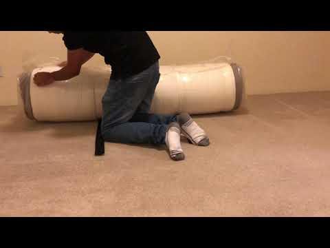IKEA HAUGESUND queen firm mattress unboxing