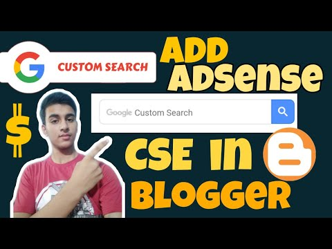 Add Adsense google custom search box (CSE) in your blogger or website