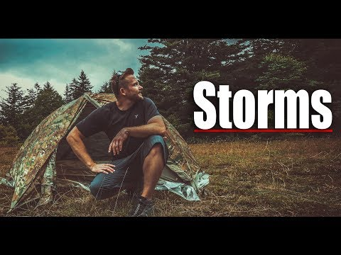 🎖️ Military Gear And Storms! - Military Surplus Solo Overnight Adventure