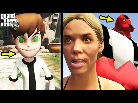 "GTA 5 Mods ""BEN 10 MOD"" (GTA 5 Ben 10, Ben 10 Omniverse, Ben 10 Transformation, GTA 5 Funny Moments)"