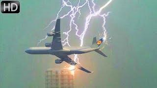 молния поражает самолеты и аэропорты