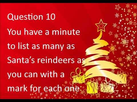 Family Christmas general knowledge quiz