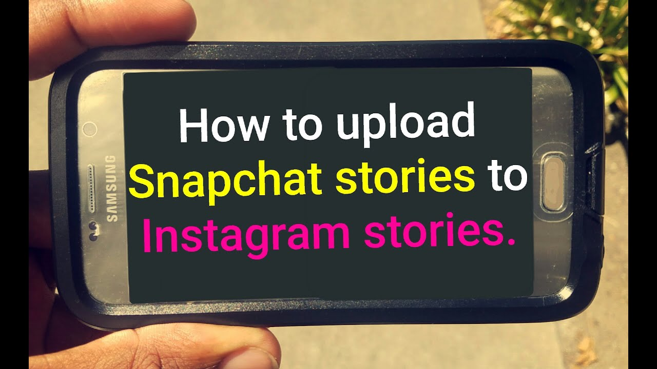 how to add instagram story to snapchat