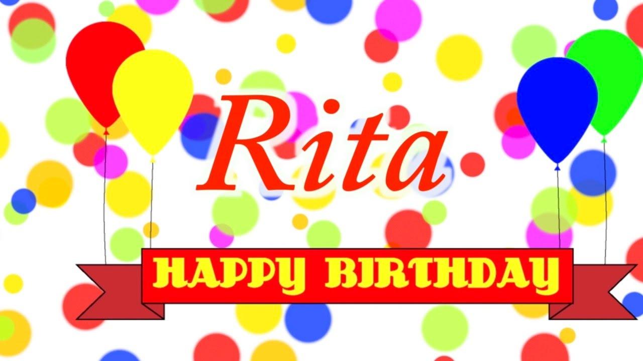 Happy Birthday Rita Song Youtube