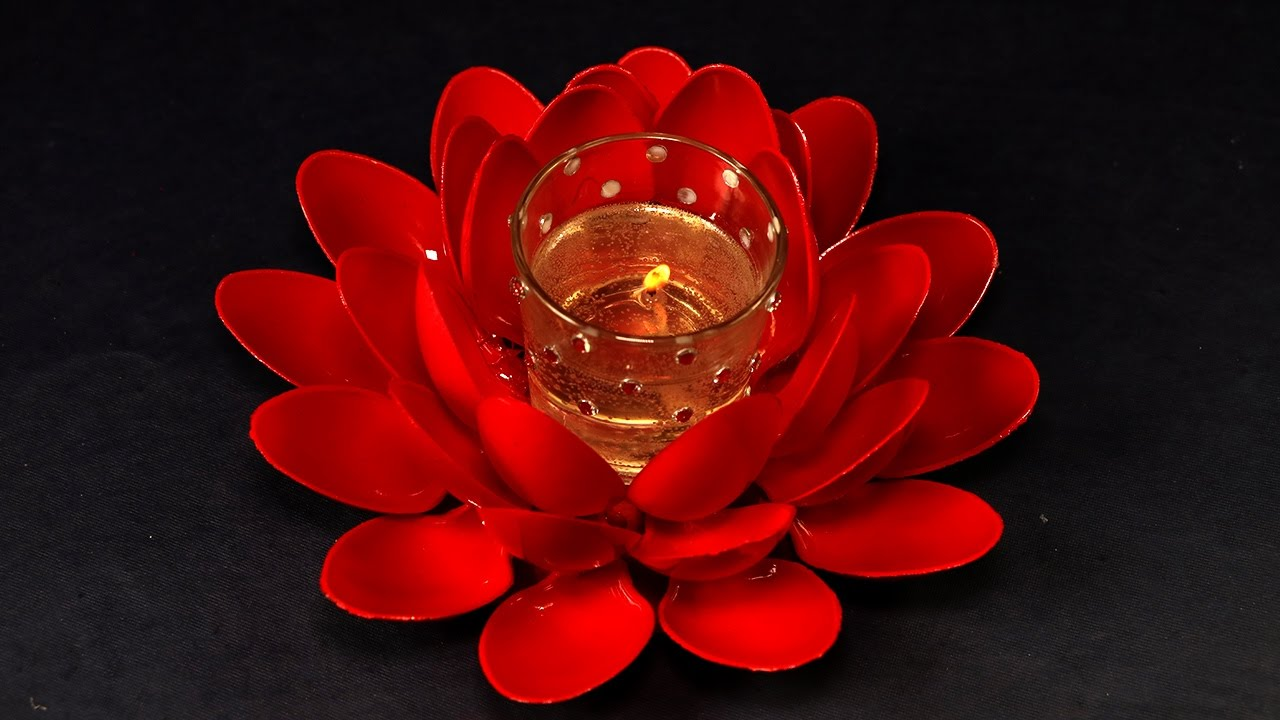 How To Make Handmade Gel Candles Lotus Shaped Candel For