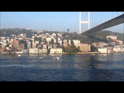 Sailing west through the Bosphorus