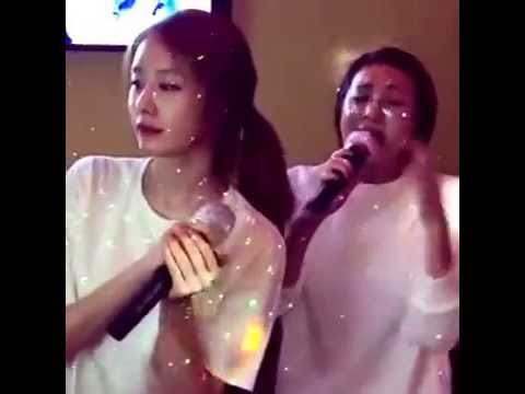 Park Jiyeon karaoke with Seo In Young