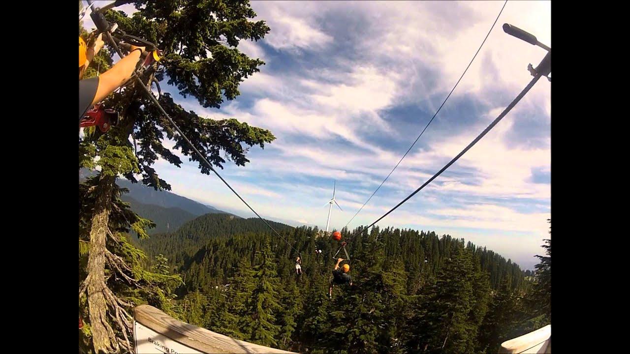 Grouse Mountain Ziplining tour HD - YouTube