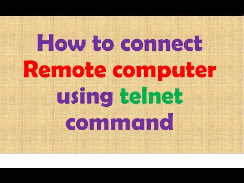 How To Connect Remote Computer Using Telnet Command