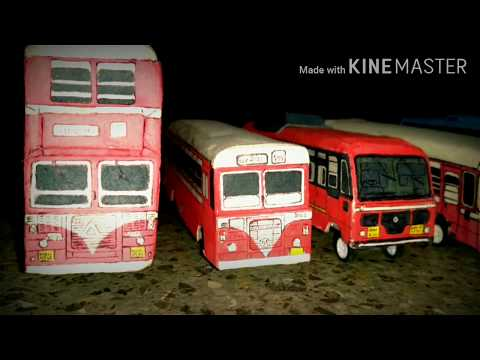 #BEST BUS AND #MSRTC Miniature models