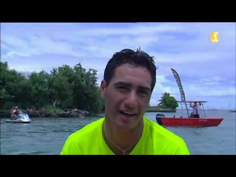 Arrivée 2ème étape Marathon Polynésie 1ère Va'a