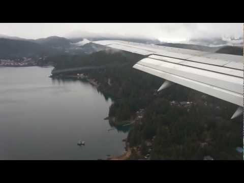 Approach & Landing Juneau Airport, Alaska, Alaska Airlines, Boeing 737-400