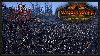 The Largest Curse Of The Vampire Coast Battle! Total War: Warhammer 2