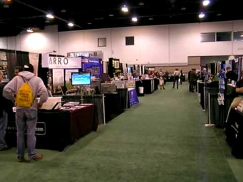 Exhibit Hall and Rock Corer at Geological Society of America Annual Conference