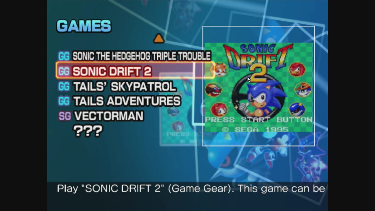 A Look at: Sonic Drift 2 | Sonic Gems Collection (GC ...