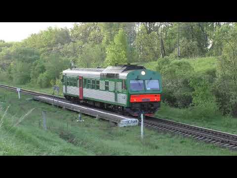 Прибытие и отправление автомотрисы АЧ2-119. Платформа Рядинки.