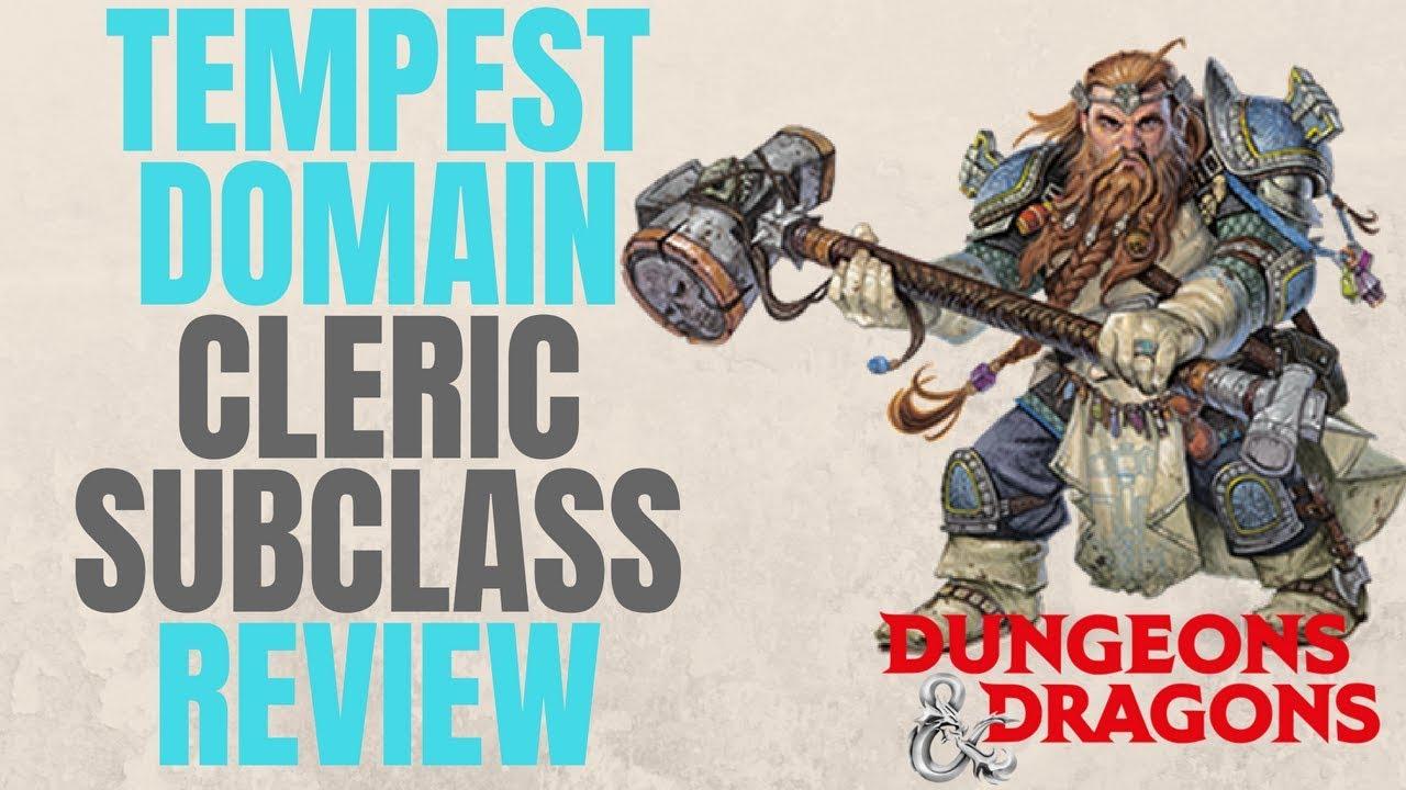 Cleric Tempest Domain - D&D 5e Subclass Series