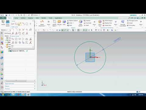 TUTORIAL 1_basic 2D sketch in unigraphics-RE UPLOADED WITH YOUR RECOMMENTS thumbnail