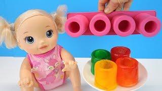 ЛЕДЯНЫЕ СТАКАНЫ ИЗ СИЛИКОНОВОЙ ФОРМЫ Куклы Беби Элайв Игрушки Эксперименты Для детей Играем Как М