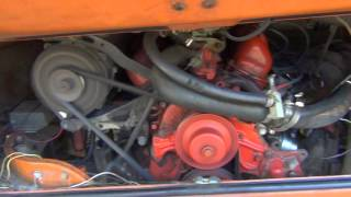 Engine running close-up: 1973 VW Campmobile Ford Cologne 2.8L V6 conversion