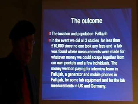 Pr C. Busby: Fallujah health effects, new U weapons. Nov 2011