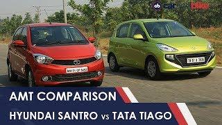 Hyundai Santro AMT vs Tata Tiago AMT: Comparison Review