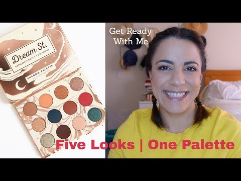 ColourPop Dream Street Palette | Kathleen Lights Collab | Five Looks Get Ready With Me thumbnail