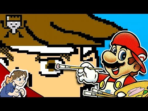 Drawing YouTubers: PeanutButterGamer! │ Mario Paint #1 │ ProJared Plays!